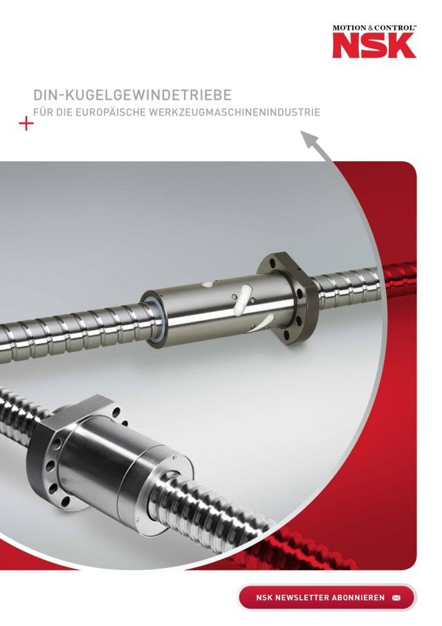 Din-Kugelgewindetriebe für die Europäische Werkzeugmaschinenindustrie