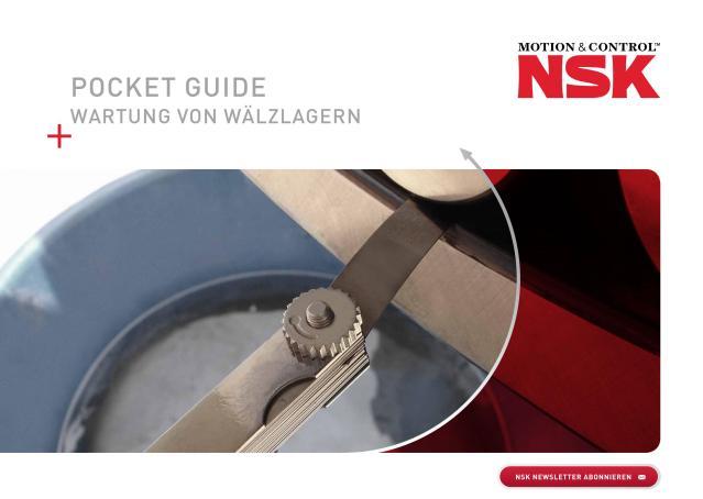 Pocket Guide - Wartung von Wälzlagern