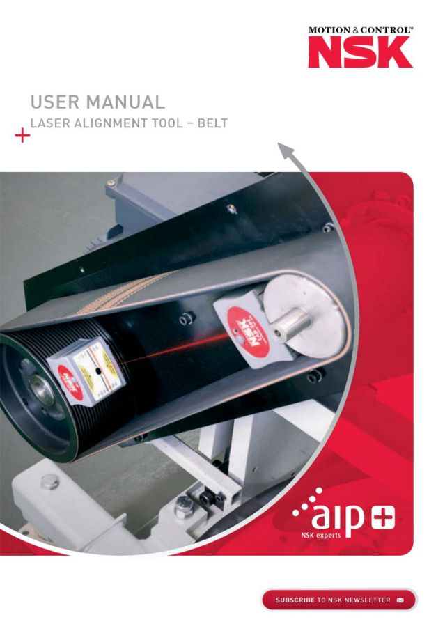 User Manual - Laser Alignment Tool -  Belt