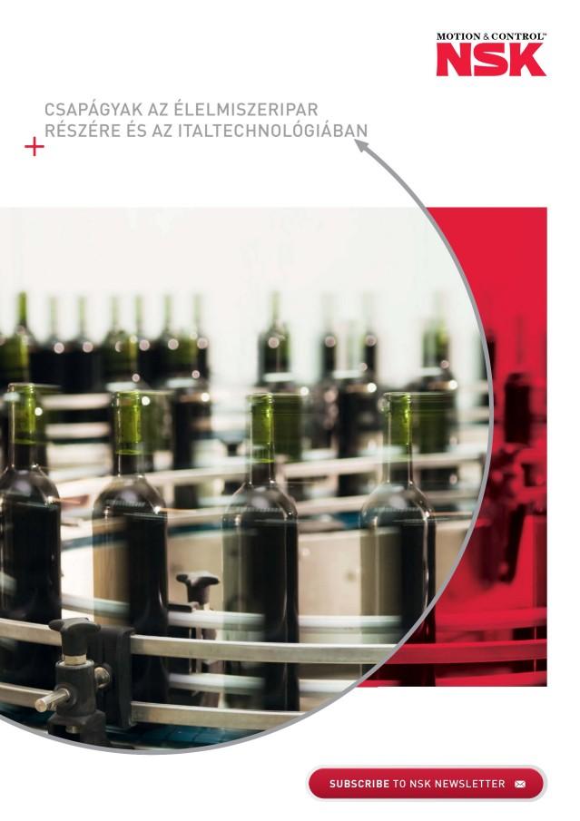 Csapágyak az élelmiszeripar részére és az italtechnológiában