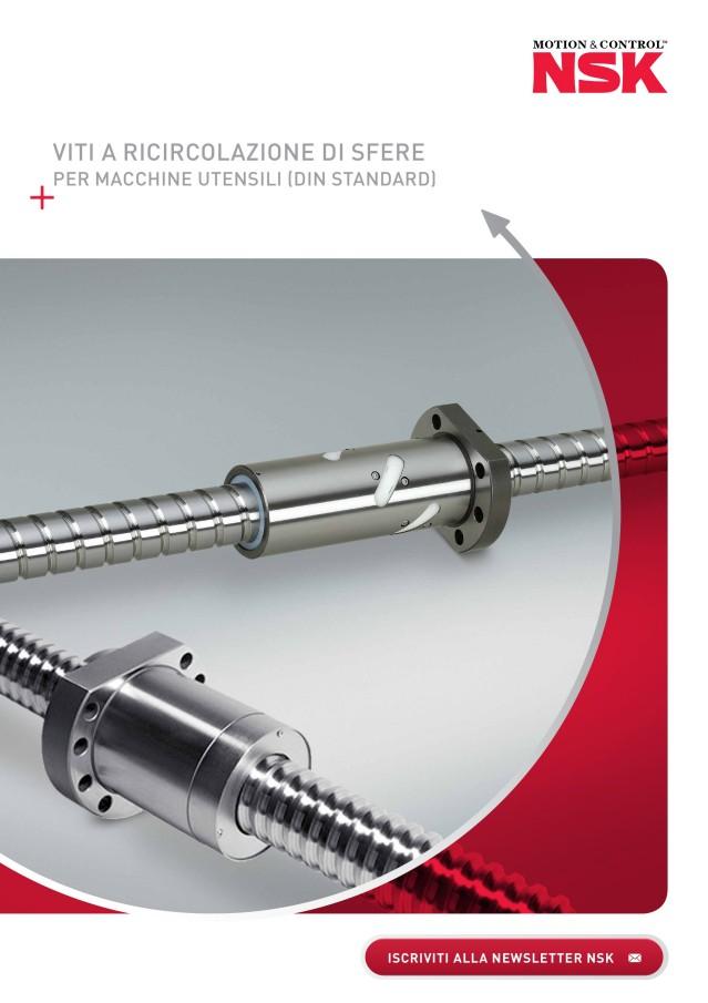 Viti a ricircolazione di sfere per macchine utensili (DIN standard)