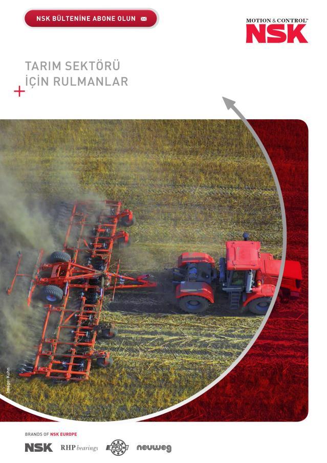 Tarım Sektörü için Rulmanlar