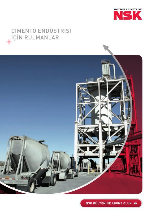 Çimento Endüstrisi İçin Rulmanlar