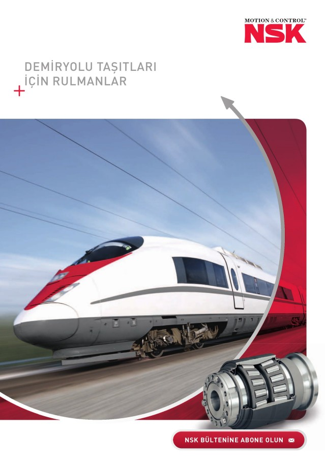 Demiryolu Taşıtları için rulmanlar